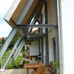 Fassadenkonstruktion Niedrigenergiehaus