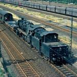050 913-3 07 rangiert mit Gerätewagen in der Umspanngruppe in Duisburg Wedau.