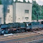 Damplok am alten Wedauer Bahnhof.