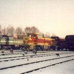 Abfahrbereit Güterbahnhof Kalkwerke Rodenhaus.