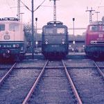 Lokparade Bw Wedau 151 114-6,140 523-2 und 216 003-4 .