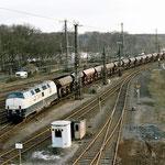 Güterzug mit Fc Wagen am Entenfang.