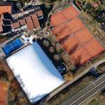 Luftbild Tennishalle mit Padelcourt 2020/2021