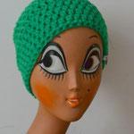 Beanie Häkelmütze BRENDA grasgrün