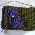 Muff waldgrün-lila