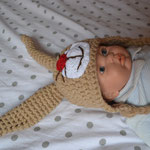 Babymütze Hasi 3-6 Monate