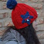 Einen Stern Mütze Häkelmütze Skimütze