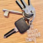 alpinweisszwei Schlüsselanhänger mit Ring