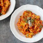 One Skillet Vegetarian Ravioli Dinner