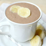 Creamy chocolate peanut butter and banana smoothie