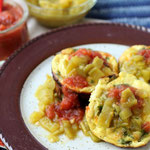 vegetarian green chile mini frittatas