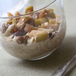 Oatmeal with baked apples, walnuts, and cranberries - by homemade nutrition - www.homemadenutrition.com