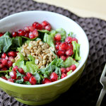 Fresh Kale Salad with Sunflower seeds and pomegranate seeds with orange dressing -  by homemade nutrition  - www.homemadenutrition.com