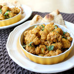 quick cauliflower curry with chickpeas