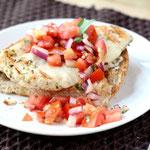 easy Italian chicken bruschetta sandwich