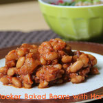 Slow Cooker baked beans with ham - by homemade nutrition - www.homemadenutrition.com