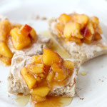 easy peach crostini