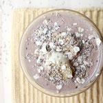 Overnight chocolate peanut buter banana oats with chia seeds