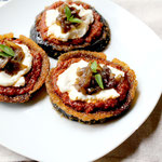 Easy Eggplant pizzas