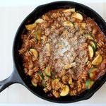 homemade healthy skillet lasagna