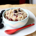 Overnight breakfast brown rice pudding