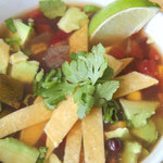 homemade slow cooker vegan tortilla soup - by homemade nutrition - www.homemadenutrition.com