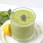 green chia-lemon smoothie