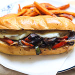vegetarian mushroom philly cheesesteak sandwich recipe