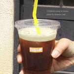 スッキリと澄んだアイスコーヒーで夏日にぴったりの後味の軽さ