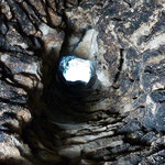 Conduit de cheminée depuis l'intérieur de la borie