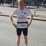 Hella-Halbmarathon 2010 vor dem Start im Trikot meines Lieblingsvereines