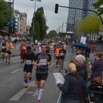 Läuferbilder auf der Reeperbahn