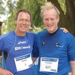 Mit Dieter Baumann nach dem Allianz-Lauf 2012
