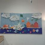 Origami-Leinwand in einem Hort in Berlin-Zehlendorf