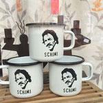 Emaille Tasse - hochwertiges deutsche Fabrikat.