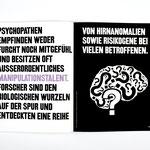 Illustration zum Thema Hirnanomalien in Verbindung mit Psychopathie (Mehr dazu: Grafikdesign > Das Böse in uns)
