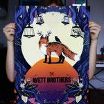 """Fanplakat für die Band """"The Avett Brothers"""""""