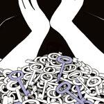 Aufmacher-Illustration zum Thema Psychische Störungen (Mehr dazu: Grafikdesign > Das Böse in uns)