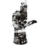 Collage zum Thema Amoklauf, Denkmäler (Mehr dazu: Grafikdesign > Das Böse in uns)