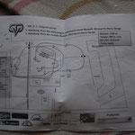 Skizze / 1100 m / 380m/min /weiße Schilder