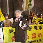元同志社大学教授(裁判中) 福島事故は福島事件というべきだ。あの時の2週間を記録した。NHK、民放TV新聞が取材し用途もしなかったし、事実をいんぺいした。これは万死に値する行為だ。5年経った今も新しい神話を作り出そうとしている。伊方原発で最後まで「闘い続けよう」と言って亡くなった近藤誠さんの遺志をついで行きたい。