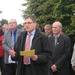Bürgermeister Elmar Himmel bei seiner Ansprache