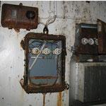 Elektrische Leitungen im Hochbehälter I von 1902
