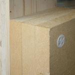 Außenwand Aufbau mit Dämmplatten, die äußere Platte ist eine Putzfassadenplatte