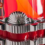 Gazelle CD Aluminiumapplikationen verchromt