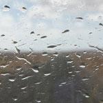 Der Regen holt uns doch noch, aber nur ganz kurz ein. 2x wisch und weg