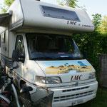 Unser Plätzchen auf dem sehr gut besuchten Campingplatz in Banovci