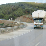 Schön bebackte Lastwagen