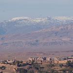 Blick auf Ouarzazate , hinten der Hohe Atlas