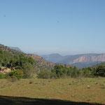 Weite Sicht über das Tal